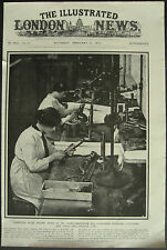 WWI Women Munitions Workers Fitting Breech Mechanism 1917 1 Page Photo Article