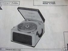 WESTINGHOUSE H-71MP1 PHONOGRAPH PHOTOFACT