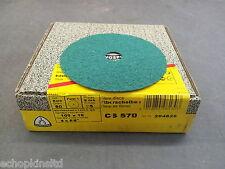 """Klingspor CS570 Fibre Discs 100x16mm Grit 80 - Box of 25 (4"""")"""