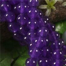 "8mm Amethyst Gemstone Round Loose Beads 15"""