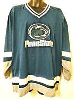 Vtg Starter Penn State Nittany Lions Hockey Jersey XL Starter Navy Blue White EC