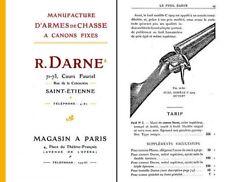 Darne 1909 Gun Catalog D'Armes de Chasse