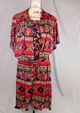 Jantzen 2 Piece Short Set Layer Look Tie Front Top Size L Top Womens 16 Shorts