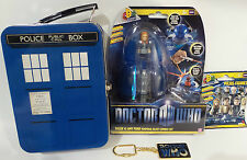 DOCTOR WHO : TARDIS LUNCH BOX, MICRO FIGURE, KEY RING, AMY POND TOY BUNDLE (TK)