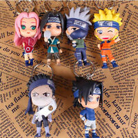 Anime Naruto Set of 6x Figures Keychains Keyrings Pendant Cosplay Gift 18th Ver.