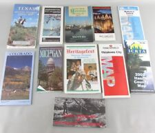 LOT OF 11 RARE 1980 - 1990s HIGHWAY ROAD MAP CONVENIENCE/ GAS STATION