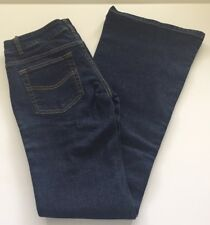 Dickies Womens Jeans Dark Wash Flare Hem Size 7 Cotton Blend Free Shipping