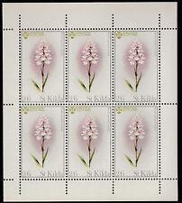 GB Locals - St Kilda (1242) 1970 FLOWERS - ORCHID  perf sheet of 6 u/m