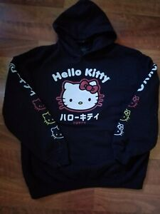 Hello Kitty Tokyo Hoodie Black Red large in woman's
