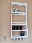 s104 Timber Shelving Unit | Wall Mounted Shelving Unit With Hooks | Dishes Unit