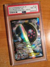 PSA-8 FULL ART Pokemon REGISTEEL EX Card DRAGONS EXALTED Set 122/124 Black White