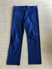 Sanforized all cotton travail pants 36 vintage chore work wallace crew france Rl