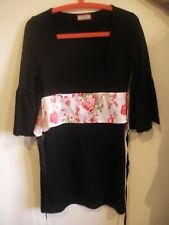 Review black dress 12 with Japanese fabric feature