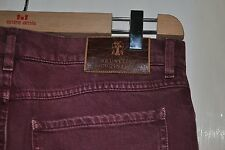 Brunello Cucinelli Jeans Pants, Burgundy, Size 46, like new