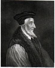 BISHOP LATIMER 1838 John Rogers - Adriaen van der Werff ANTIQUE ENGRAVING
