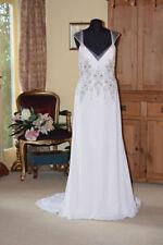 Satin V Neck Wedding Column/Sheath Dresses