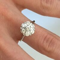 Diamond Solitaire Cluster Ring .52 ctw 14k Gold