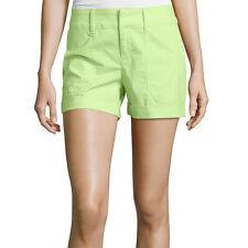 a.n.a Mid-Rise Utility Poplin Shorts 6, 16 New Sharp Green