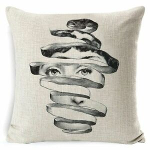 European Vintage Face Drawings Cushion Cover Red Lips Eyes Pillow Case Sofa New