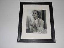 """Framed Madonna """"Like a Virgin"""" 1984 Promo Picture Black Glass Frame 14"""" x 17"""""""