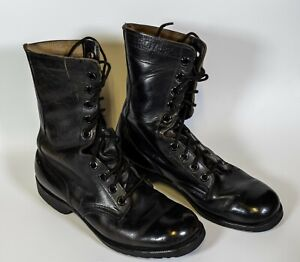 VTG Ro Search 1983 Mens Military black Leather size 6.5R Combat Boots.