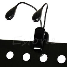 8 LED Flexible Dual Head Arm Table Lamp Clip-on Reading Study Desk Light Camping