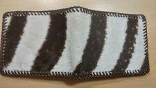 NEW Authentic ZEBRA SKIN Wallet bi Fold Men Billfold Original Slim Pocket NWOT