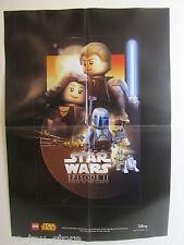 Grand poster star wars lego L'attaque des clones episode ii taille 60cm x42cm A2