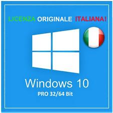 LICENZA WINDOWS 10 PRO 32 / 64 BIT KEY WIN 10 LICENSE ORIGINALE ITALIA