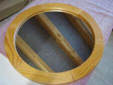 Versteigere sehr gut erhaltenen runden Spiegel mit Holzrahmen, Dm. ca. 61cm