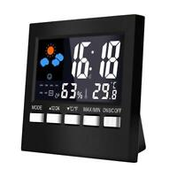 Multi-function LCD Digital Weather Station Thermometer Hygrometer (Black) R1BO