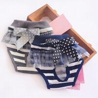 Female Dog Sanitary Pants Stylish Pet Puppy Cloth Dress Diaper Underwear S/L