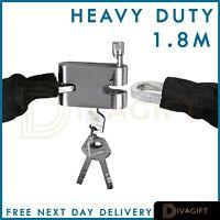 1.8M Chain Lock Bike Bicycle Heavy Duty Security Padlock Motorcycle Motorbike
