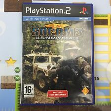 SOCOM 3 (III) US NAVY SEALS - SONY PLAYSTATION 2 PS2 PSTWO GAME - MINT