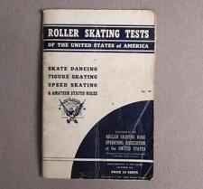 Vintage 1939 Roller Skating Tests Rollerskate Book Dancing,Speed,Figure Skate