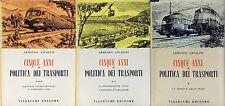 Cinque anni di politica dei trasporti Armando Angelini Autografo Vallecchi 1960