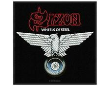 OFFICIAL LICENSED - SAXON - WHEELS OF STEEL WOVEN PATCH - METAL ROCK