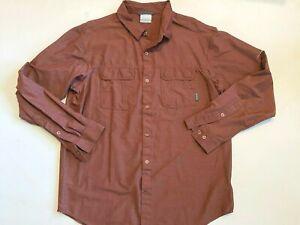 Columbia Omni-Wick Long Sleeve Fishing Button Down Shirt Men's Large