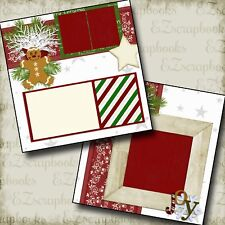 CHRISTMAS - Christmas - 2 Premade Scrapbook Pages - EZ Layout 262