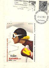 5440) CATANIA SCI ETNA COPPA KATANA 1957 SLALOM INTERNAZIONALE FEMMINILE.