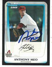 Anthony Meo Arizona Diamondbacks 2011 Bowman Authentic Autograph COA