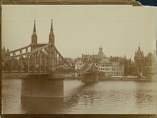 Allemagne, Pont à identifier  Vintage citrate print Tirage citrate  9x12