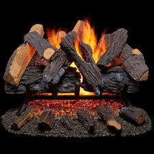 Duluth Forge Vented Natural Gas Fireplace Log Set - 24 in., 55,000 BTU, Heartlan