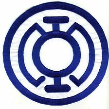 "Large 8"" Blue Lantern Corps Classic Style Embroidered Patch"