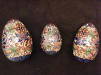 Oeufs en Emaux Cloisonnés Ennamel eggs