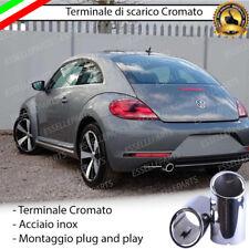 TERMINALE DI SCARICO PER MARMITTA CROMATO INOX VW NEW BEETLE MAGGIOLINO 5C1