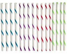 Reusable Plastic BPA Free Smoothie Straws Set of 16