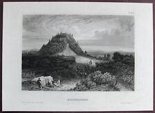FESTUNG HOHENASPERG / ASPERG. Orig. Stahlstich 1850