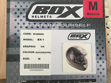Box Motorcycle BX-1 Helmet, Medium, Black, Ex-Display. Boxed RRP £59