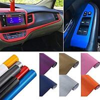 Carbon Fiber Car Sticker Fiber Waterproof Vinyl 3D Decorative sticker blue GO9